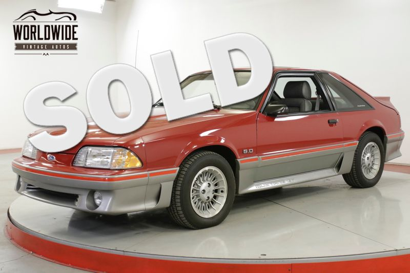 1988 Ford MUSTANG  GT 5.0L 5 SPEED 13K ORIGINAL MILES COLLECTOR | Denver, CO | Worldwide Vintage Autos