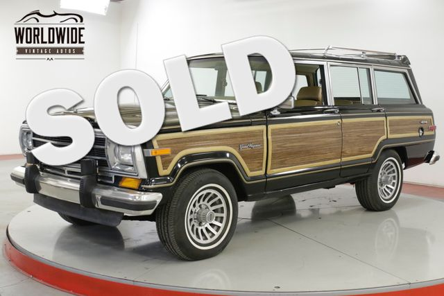 1988 Jeep GRAND WAGONEER 1 OWNER! COLLECTOR LOW MILES RARE COLOR 4x4  | Denver, CO | Worldwide Vintage Autos in Denver CO