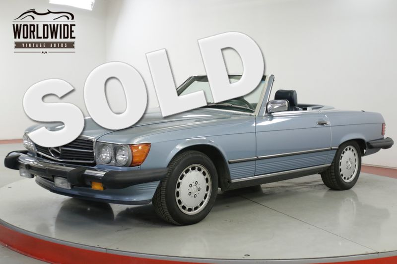 1988 Mercedes-Benz 560 SL CONVERTIBLE ALL ORIGINAL V8 | Denver, CO | Worldwide Vintage Autos