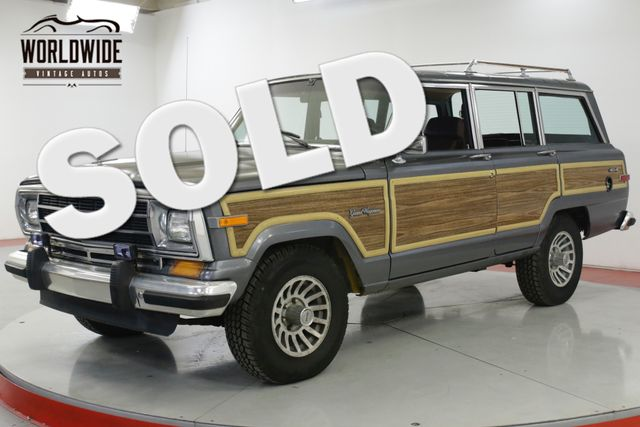 1989 Jeep GRAND WAGONEER 1 OWNER EXTREMELY LOW MI 67K RARE ROOF RACK | Denver, CO | Worldwide Vintage Autos in Denver CO