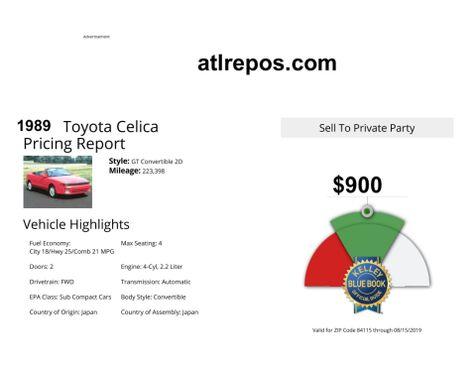 1989 Toyota Celica GT in Salt Lake City, UT