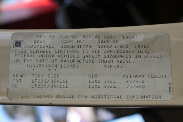 1991 Chevrolet Suburban 2500 RWD Silverado - ONLY 80K MILES! Mooresville , NC 54