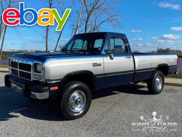 1991 Dodge Ram W250 Le 4x4 CUMMINS 5.9L 12V DIESEL LOW MILE RARE MINT