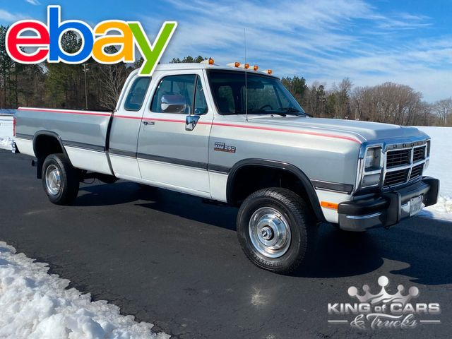 1992 Ram W250 4x4 Club Cab 5.9L CUMMINS DIESEL LOW ORIGINAL MILES RARE