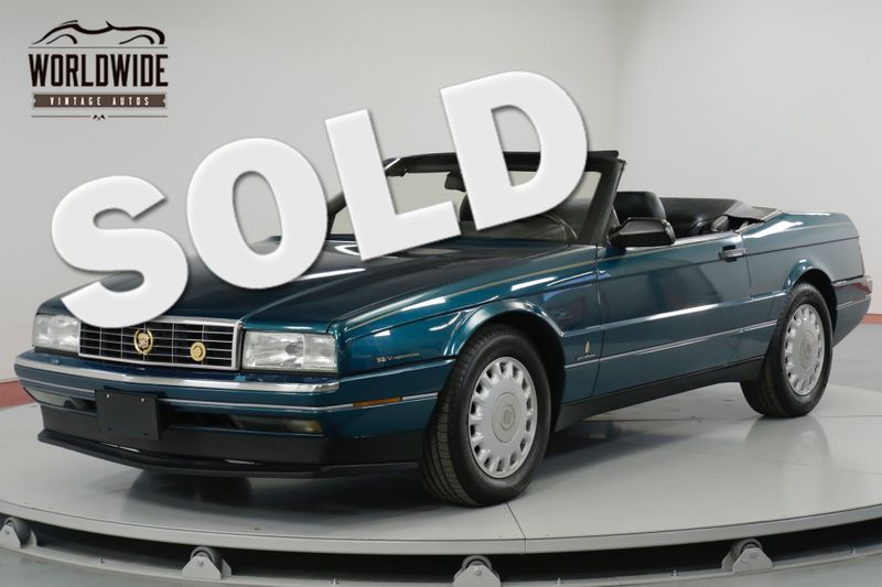 1993 Cadillac ALLANTE  POWER EVERYTHING CONVERTIBLE  | Denver, CO | Worldwide Vintage Autos