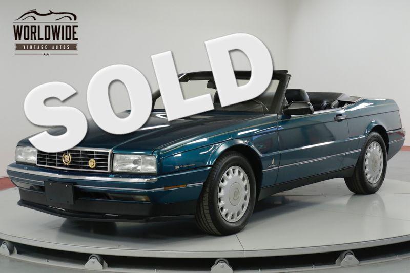 1993 Cadillac ALLANTE  POWER EVERYTHING CONVERTIBLE  | Denver, CO | Worldwide Vintage Autos
