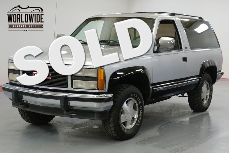 1993 GMC YUKON BLAZER. ONE OWNER! 81K ORIGINAL MILES! 4x4.     Denver, CO   Worldwide Vintage Autos
