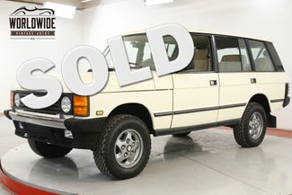 1994 Land Rover RANGE ROVER CLEAN. CARFAX. LOW MILES. WELL MAINTAINED  | Denver, CO | Worldwide Vintage Autos in Denver CO