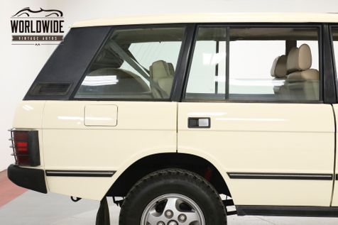 1994 Land Rover RANGE ROVER CLEAN. CARFAX. LOW MILES. WELL MAINTAINED    Denver, CO   Worldwide Vintage Autos in Denver, CO