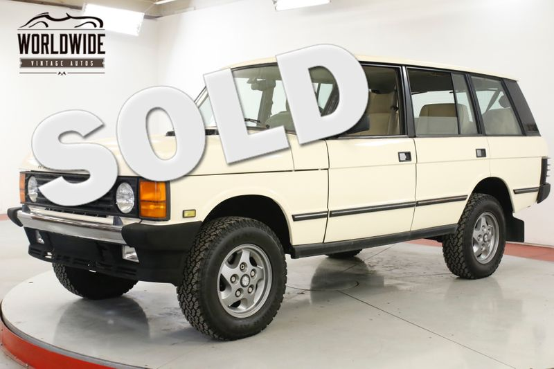 1994 Land Rover RANGE ROVER CLEAN. CARFAX. LOW MILES. WELL MAINTAINED  | Denver, CO | Worldwide Vintage Autos