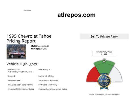 1995 Chevrolet Tahoe  in Salt Lake City, UT
