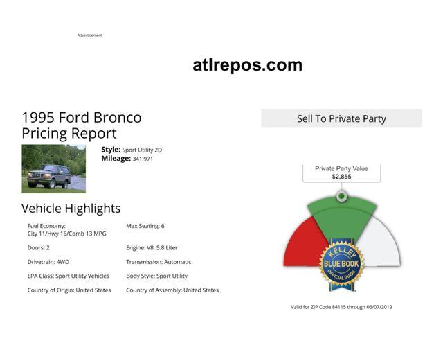 1995 Ford Bronco XLT Salt Lake City, UT