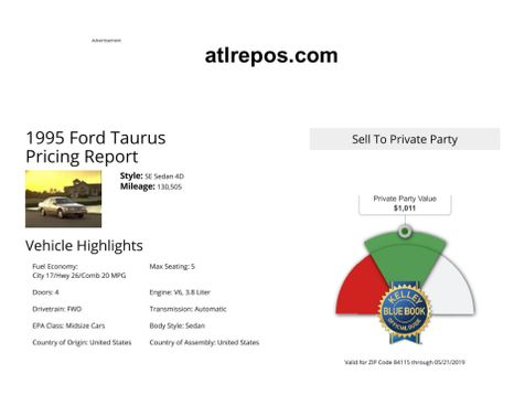 1995 Ford Taurus SE in Salt Lake City, UT