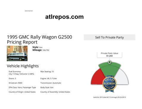 1995 GMC Rally  in Salt Lake City, UT