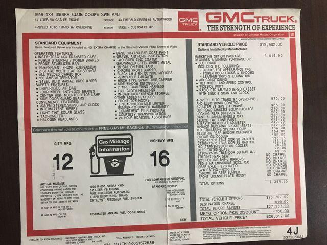 1995 GMC Sierra 1500 Z71 4x4 West Chester, PA 22