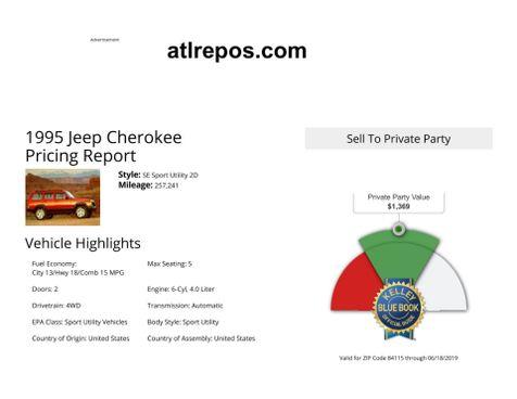 1995 Jeep Cherokee Sport in Salt Lake City, UT