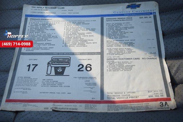 1996 Chevrolet Impala SS in McKinney Texas, 75070