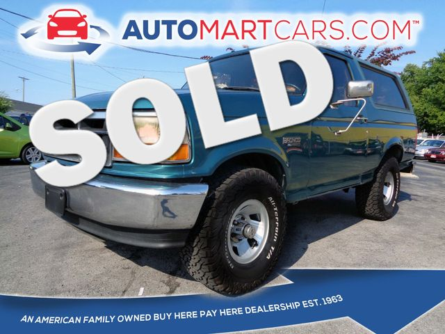 1996 Ford Bronco XL | Nashville, Tennessee | Auto Mart Used Cars Inc. in Nashville Tennessee