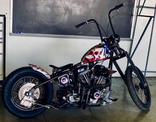 1996 Harley EVO Casptian America