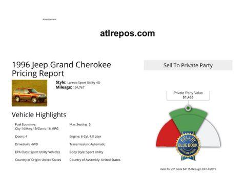 1996 Jeep Grand Cherokee Limited in Salt Lake City, UT