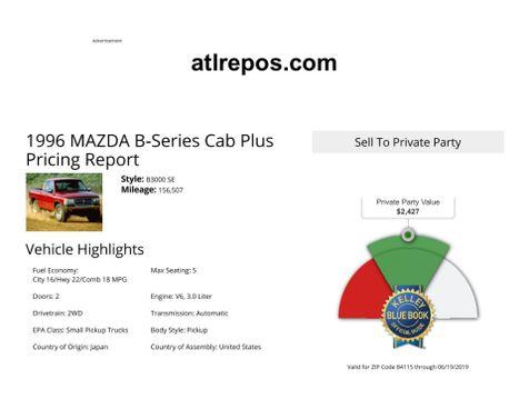 1996 Mazda B-Series 2WD Truck SE in Salt Lake City, UT