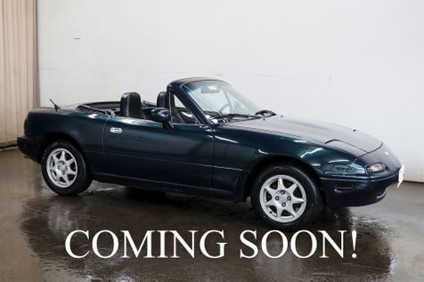 1996 Mazda MX-5 Miata Convertible Roadster w/5-Speed Manual, A/C, Cruise Control, Lightweight Wheels & BT Audio in Eau Claire