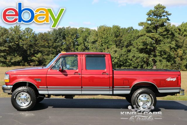 1997 Ford F250 Xlt Crew CAB 7.3L DIESEL 52K ACTUAL MILES 2-OWNER 4X4 OBS