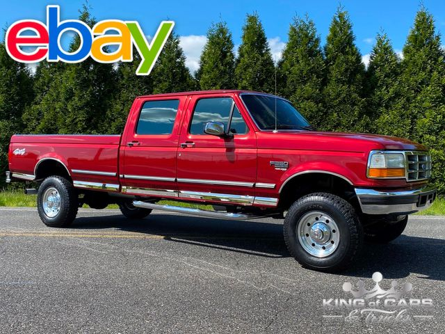 1997 Ford F350 7.3l Diesel OBS 4X4 1-OWNER CREW CAB LONG BED MINT LOW MILE RARE