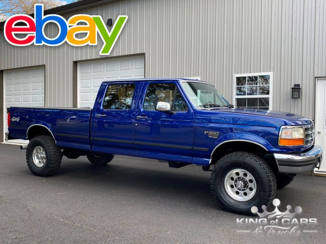 1997 Ford F350 7.3l Diesel Obs OBS 4X4 1-OWNER CREW CAB LONG BED MINT LOW MILE RARE