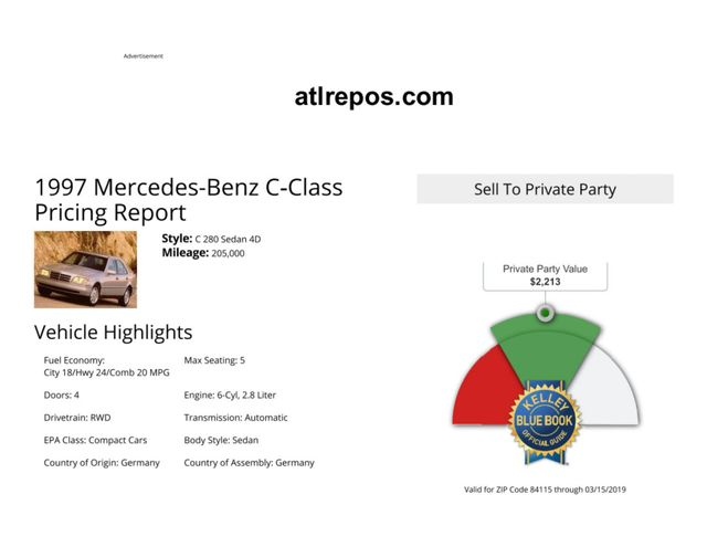 1997 Mercedes-Benz C280 Salt Lake City, UT