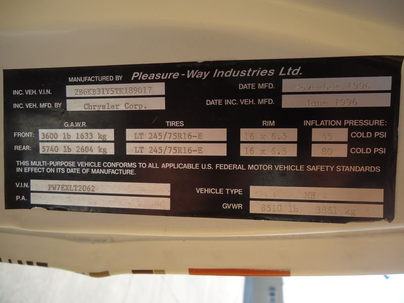 1997 Pleasure-Way Excel-TW   in Sherwood, Ohio