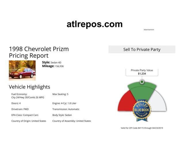 1998 Chevrolet Prizm Salt Lake City, UT