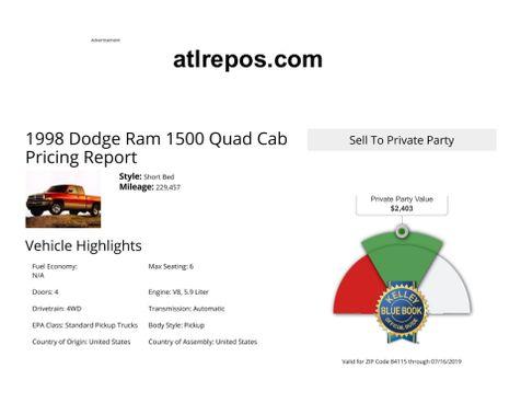 1998 Dodge Ram 1500  in Salt Lake City, UT