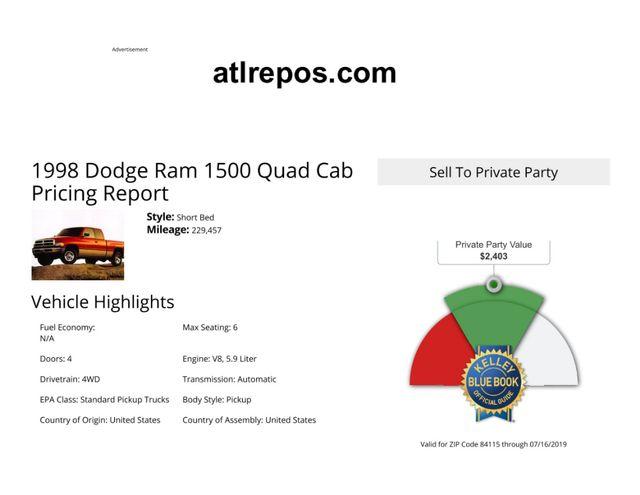 1998 Dodge Ram 1500 Salt Lake City, UT
