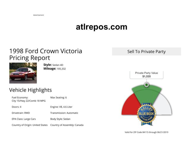 1998 Ford Crown Victoria Salt Lake City, UT