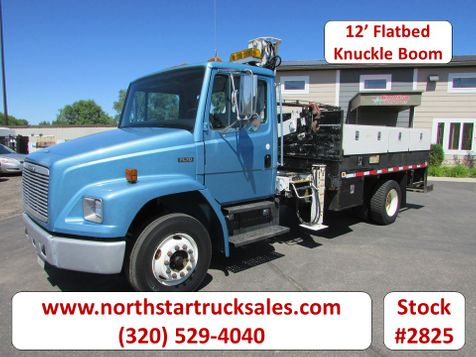 1998 Freightliner FL70 CAT Flatbed with Knuckle Boom  in St Cloud, MN