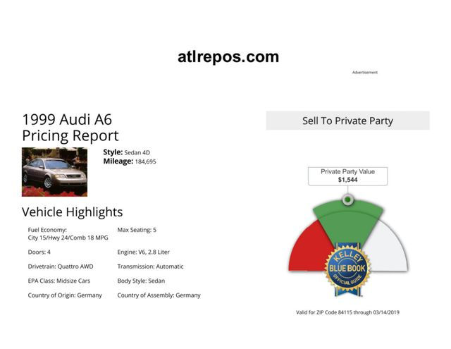 1999 Audi A6 Salt Lake City, UT