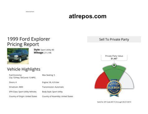 1999 Ford Explorer XLT in Salt Lake City, UT