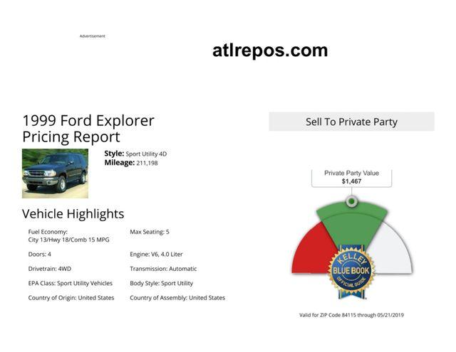 1999 Ford Explorer XLT Salt Lake City, UT