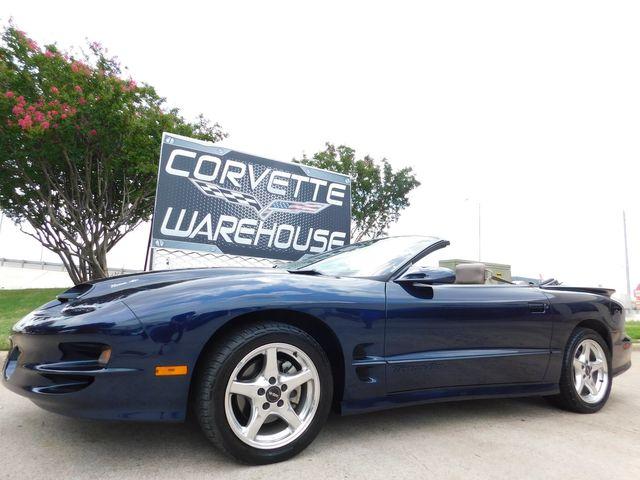 1999 Pontiac Firebird Convertible Trans Am WS6, Auto, CD, 1/27 Made 44k in Dallas, Texas 75220