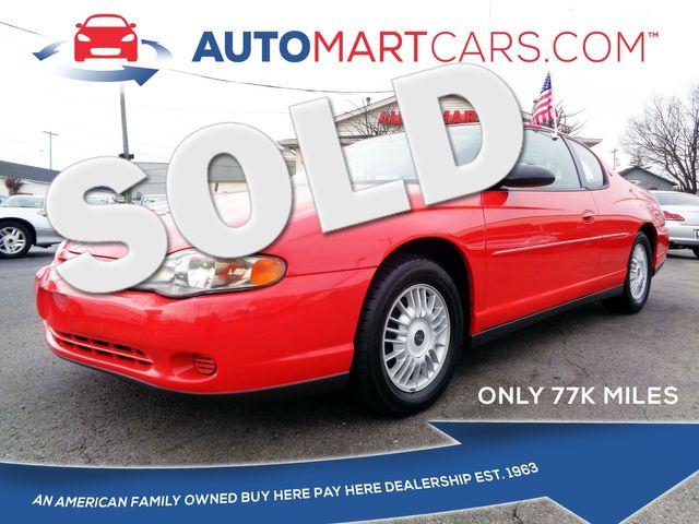 2000 Chevrolet Monte Carlo LS in Nashville, Tennessee 37211