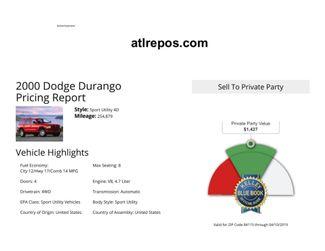 2000 Dodge Durango Salt Lake City, UT