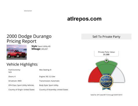2000 Dodge Durango  in Salt Lake City, UT