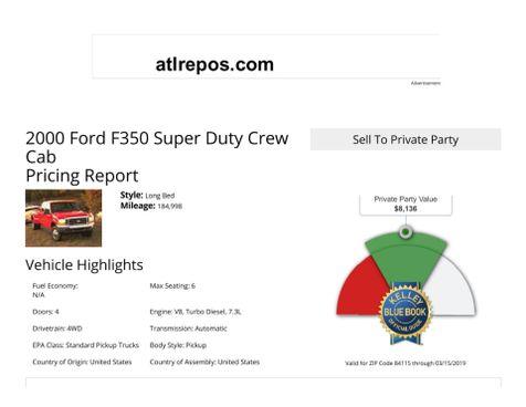 2000 Ford Super Duty F-350 SRW XLT in Salt Lake City, UT
