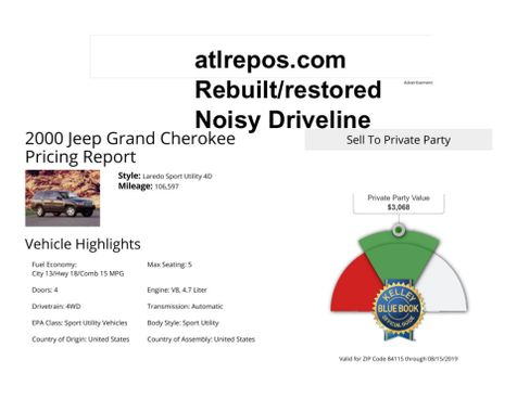 2000 Jeep Grand Cherokee Limited in Salt Lake City, UT