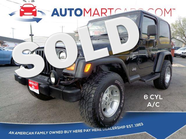 2000 Jeep Wrangler Sport | Nashville, Tennessee | Auto Mart Used Cars Inc. in Nashville Tennessee