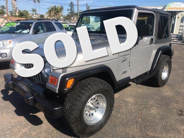 2000 Jeep Wrangler Sport San Diego, CA