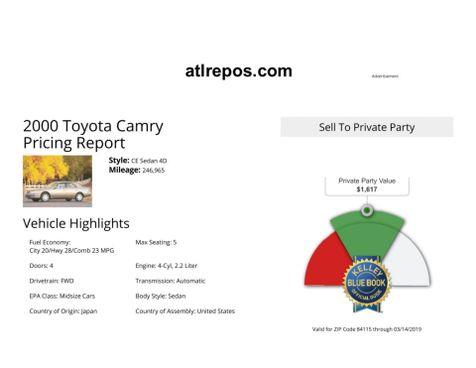 2000 Toyota Camry CE in Salt Lake City, UT