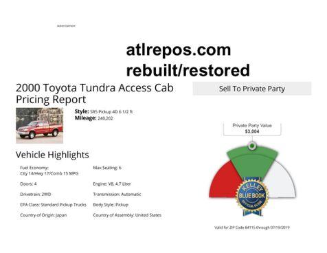 2000 Toyota Tundra SR5 in Salt Lake City, UT