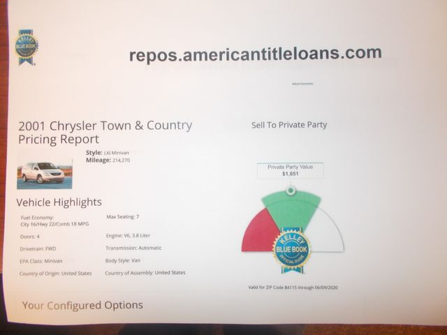 2001 Chrysler Town & Country LXi Salt Lake City, UT